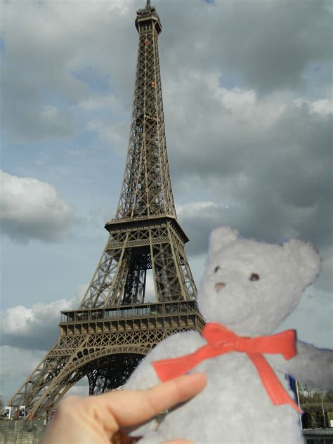 eiffel tower standing l tidy teddy 39 s travels he be travelin 39