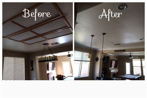 Removed recessed fluorescent lighting and added 6 can