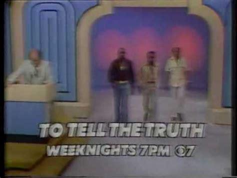 Kiro To Tell The Truth Promo 1977 Youtube
