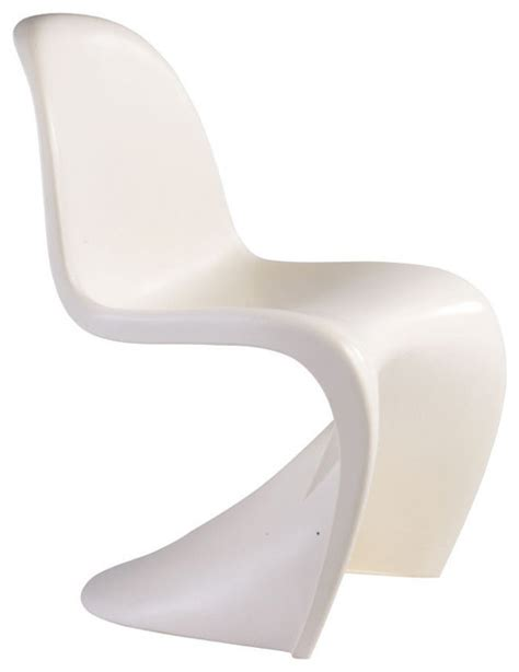 s shape chair white contemporary dining chairs by