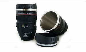 Canon Lens Cup Coffee Mug Camera EOS EF 24-105mm Stainless his lens cup is a great gift for ...