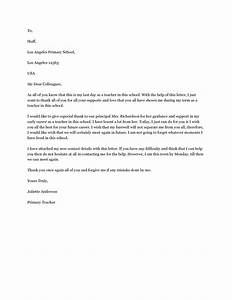 goodbye letter to colleagues a farewell letter to With farewell letter to colleagues template