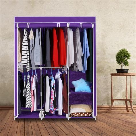 portable closet storage organizer wardrobe clothes rack