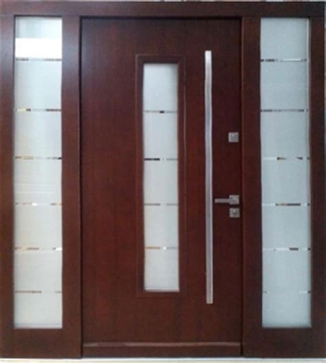 model  modern wenge wood exterior door  side panels
