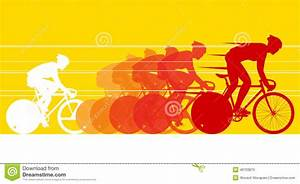 Cyclist In The Bicycle Race Stock Vector - Image: 46703870