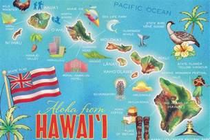 Hawaiian Hawaii Islands Map