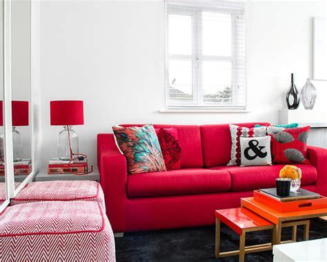 sofa vermelho como decorar 34 fotos de decora 231 227 o de sala sof 225 vermelho e combina 231 245 es