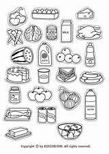 Fridge Refrigerator sketch template