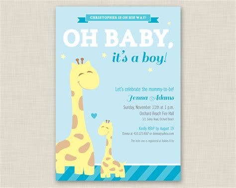 baby shower invitations  boys  templates
