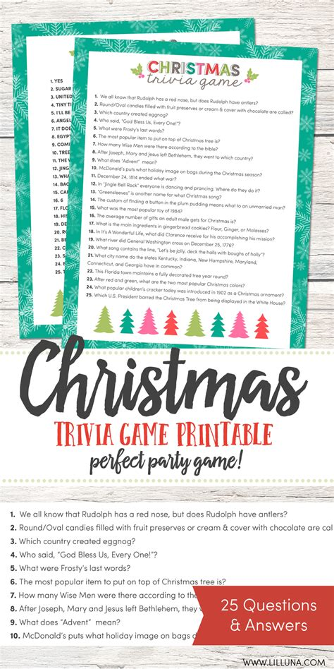Psych is a trivia game that is perfect for friend meetings and parties. Free Christmas Trivia Game | Lil' Luna
