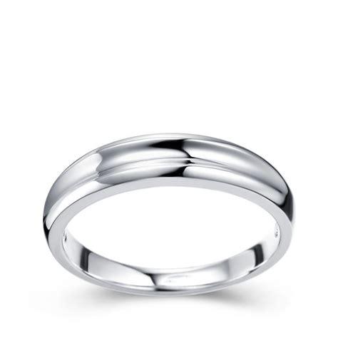mens wedding ring band white gold jeenjewels