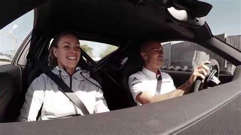 Andre Agassi Angelique Kerber Porsche andre agassi angelique kerber at porsche weissach test