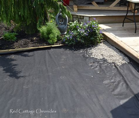 backyard makeover pea gravel patio cottage chronicles