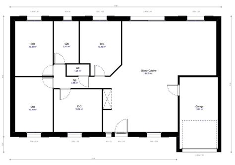 plan maison 1 chambre plan maison plain pied 1 chambre plan maison with plan