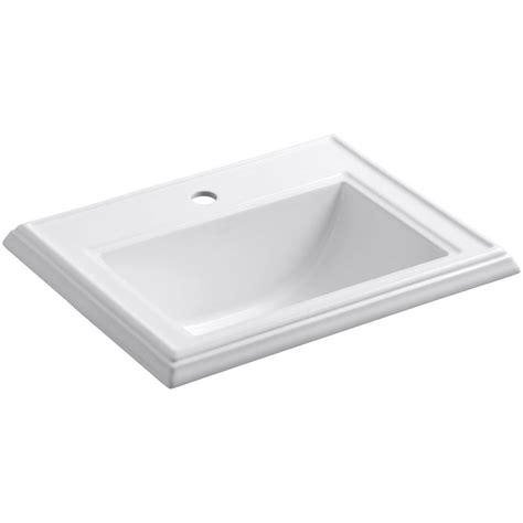 kohler memoirs drop in vitreous china bathroom sink in