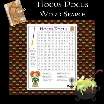 hocus pocus  word search  dr loftins learning