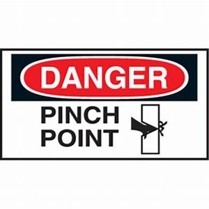graphic safety roll labels pinch point from setonca With kitchen cabinets lowes with pinch point stickers