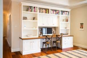 Molding For Kitchen Cabinets by Desk With Bookshelves Above Home Office Traditional With