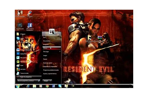 download tema windows 7 resident evil 4