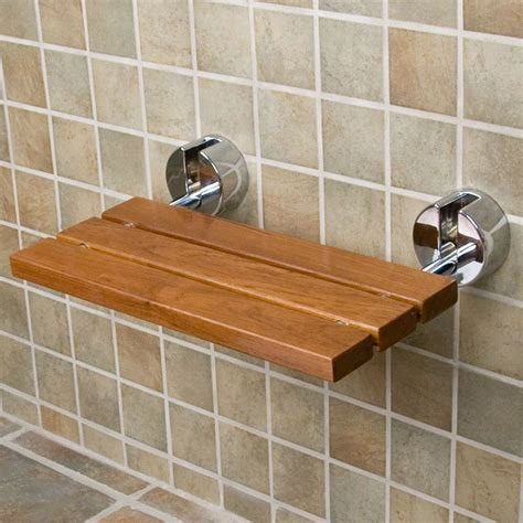 Folding Teak Shower Seat teak modern folding shower seat for the home pinterest