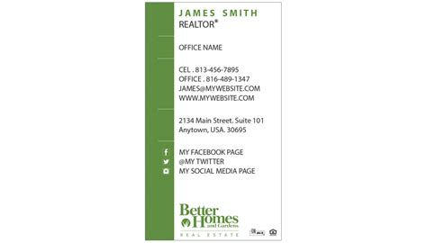 better homes and gardens business cards unique better