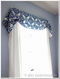 how to make a window valance How to Make a No Sew Window Treatment - In My Own Style