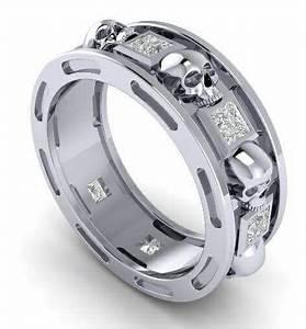 Skull Wedding Ring Men Or Woman Gemstone