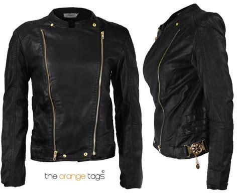 Details About New Ladies Biker Jacket Crop Pvc Faux