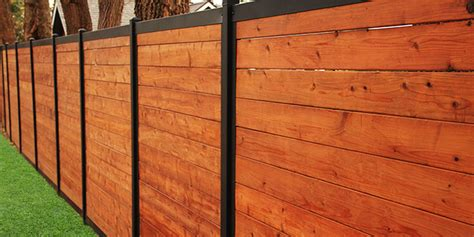 build a wood fence with metal posts that 39 s actually