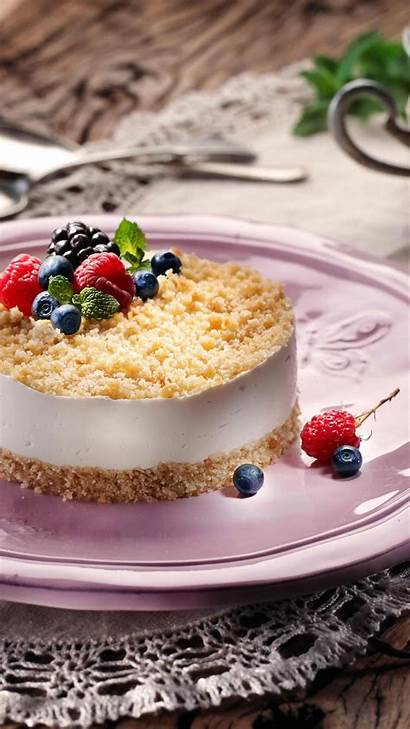 Cheesecake Cheese Mascarpone Souffle Philadelphia Berries Blueberries