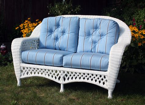 White Wicker Loveseat by White Outdoor Wicker Loveseat