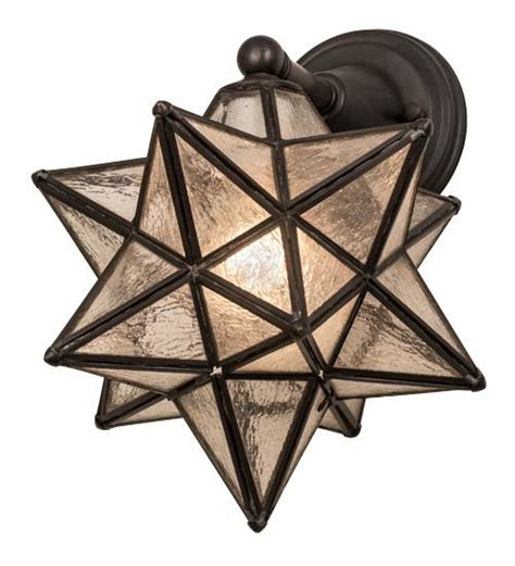 moravian star light set 10 quot w moravian wall sconce custom options add to your
