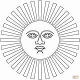 Inca Coloring Inti Sun Empire Printable Simple Peru Template Drawings Symbol Pattern Civilizations Ancient 27kb 1500px 1500 Sketch Popular Categories sketch template