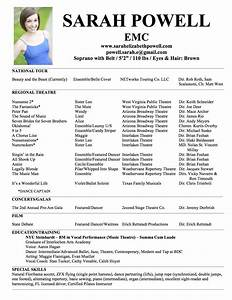 Theatre resume template cyberuse for Audition resume template