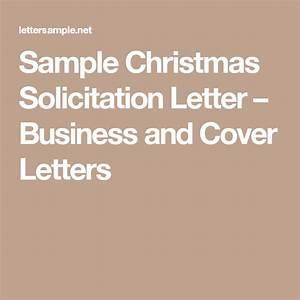 Sample Christmas Solicitation Letter  U2013 Business And Cover