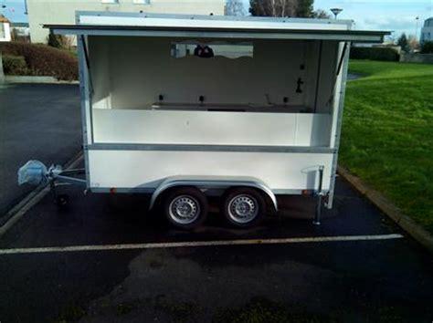 remorque cuisine mobile commerce ambulant camions remorques matériel forain en basse normandie occasion ou destockage