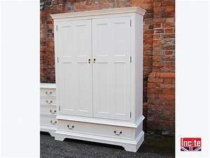 Bespoke Painted Wardrobe with Storage Drawers-by Incite