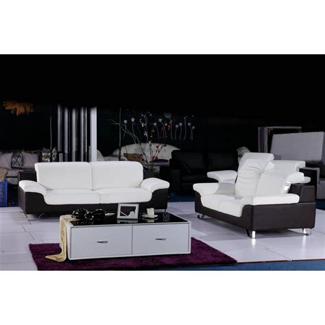 white  black color sectional sofa