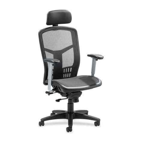 Lorell Executive High Back Chair Headrest by Lorell High Back Mesh Chair Black 1 Each Quickship
