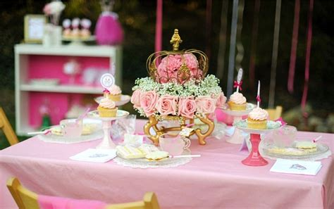 pink princess tea party styled shoot celebrations  home