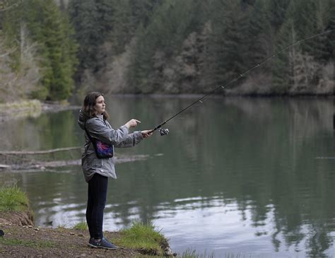 fishing foster order lake tayler sweet accessible locations stay still popular during democratherald trout casts carr while gazettetimes
