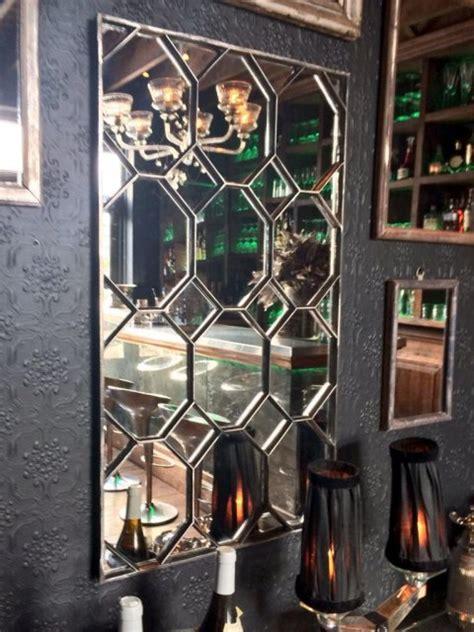 kentish manor house decorative hexagonal wall mirror