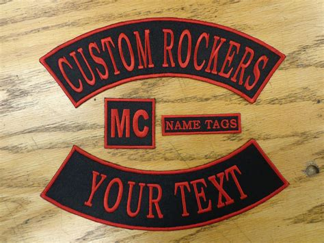 Custom Embroidered Patch Rocker Set Name Cube Back Patch