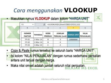 Rumus Vlookup (mengisi Data Kolom
