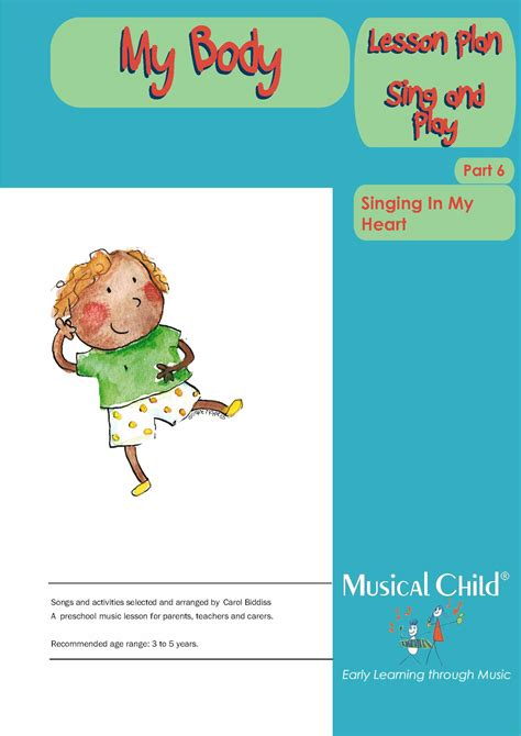 my preschool lesson plan 6 581 | My Body Lesson Plan Page 1