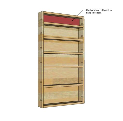 Spice Rack Building Plans by White Door Spice Rack Diy Projects
