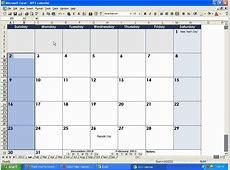 How To Insert A Calendar In Wxcel 2016 Calendar Template