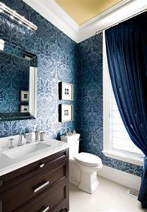 Fabulous Navy Blue Wallpaper For Walls With Velvet Drapes