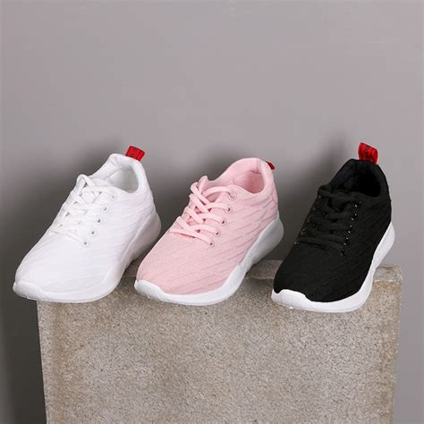 bayar di tempat fashion wanita sepatu sneakers bahan breathable gaya korea untuk olahraga
