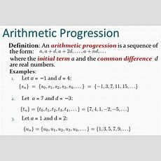 Sum Of The First N Terms Of An Arithmetic Progression  A Plus Topper